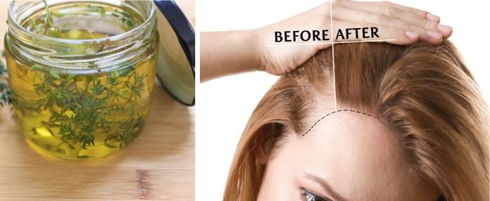 قناع الزعتر لوقف تساقط الشعر وتقوية الأطراف