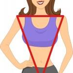 رجيم جسم المثلث المقلوب