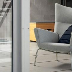Danish Modern Sofa Bed With Cushions Hans Wegner Wing Chair Mid Century Furniture