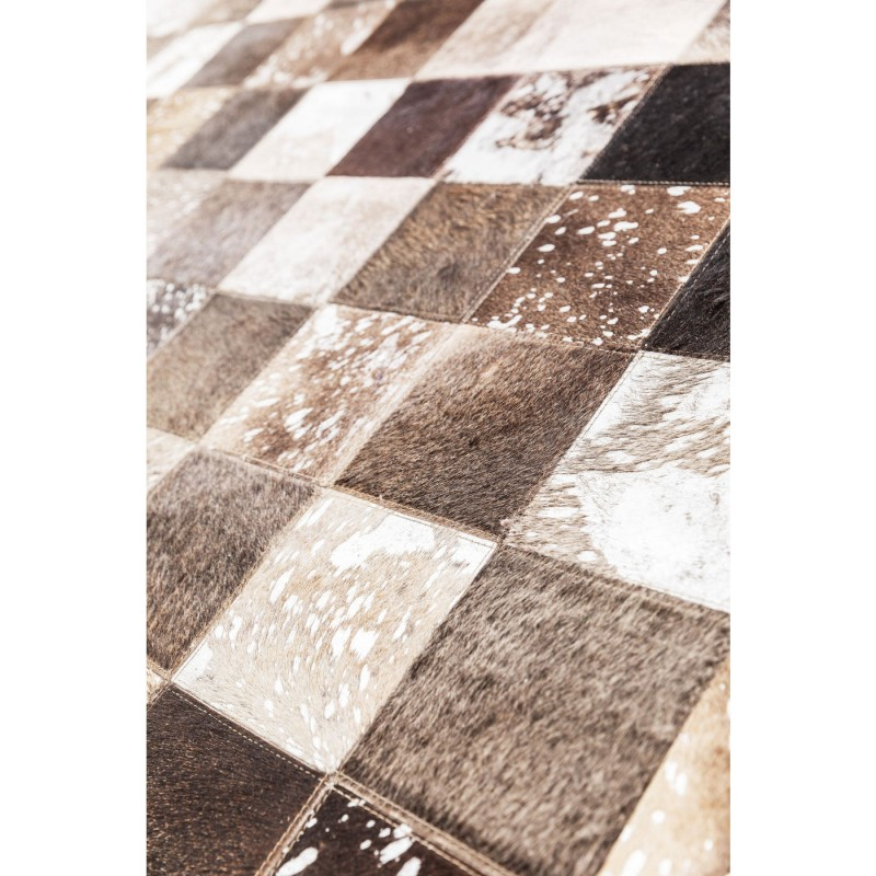 tapis patchwork cosmo cuir gris 170x240