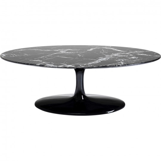 coffee table solo marble black 120cm kare design