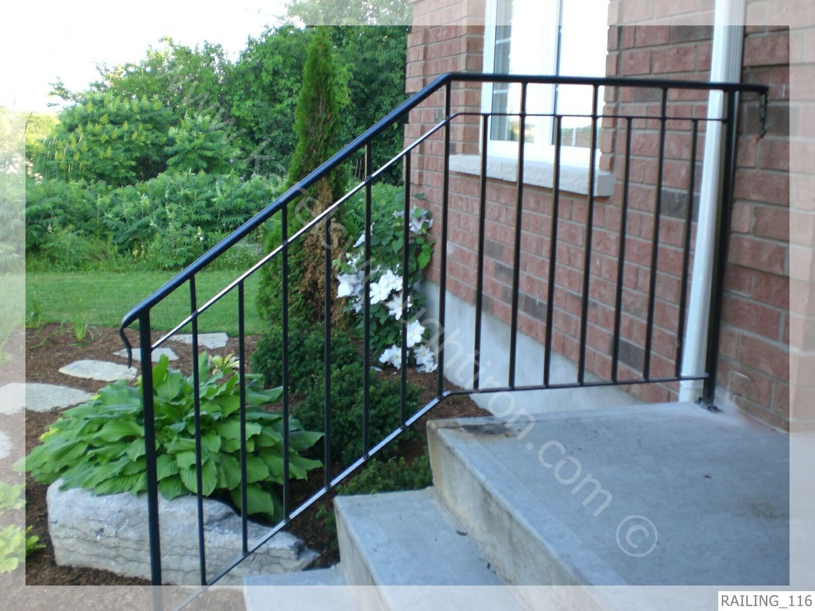 Outdoor Wrought Iron Steps Wrought iron outdoor stair railings