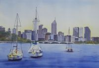 Perth 2010 - Watercolour 34.5 x 50 cms