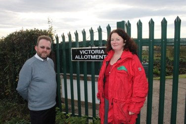 David Nagle and Councillor Karen Bruce