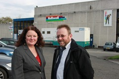Councillor Karen Bruce and Rothwell Labour campaigner David Nagle