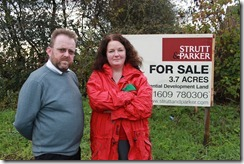 David Nagle and Cllr Karen Bruce at Victoria allotments in Rothwell