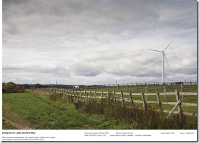Swithens Farm, Rothwell wind turbines artists impression