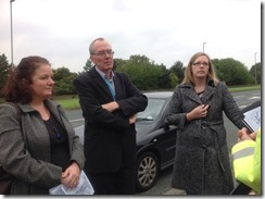 Woodlesford and Oulton residents with Cllr Karen Bruce campaigning for better road safety