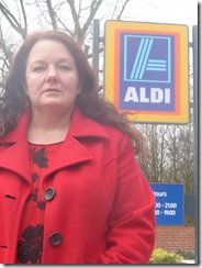 Rothwell councillor Karen Bruce at Aldi