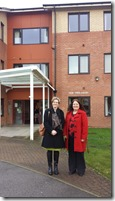 Cllr Karen Bruce and Lisa Mulherin inspecting an extra care home for the elderly