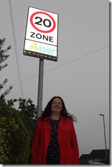 Rothwell councillor Karen Bruce has successfully campaigned for 20mph zones throughout the ward