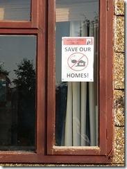 Poster in window Wordsworth Drive