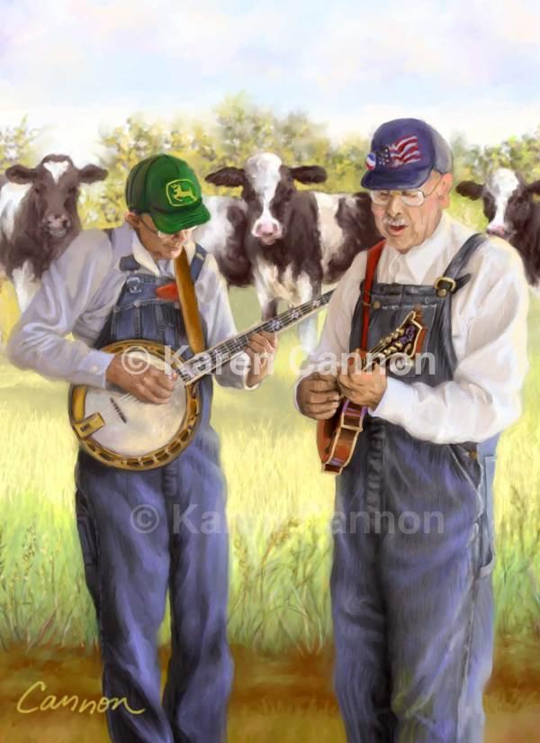 Banjo And Mandolin Bluegrass Art Print