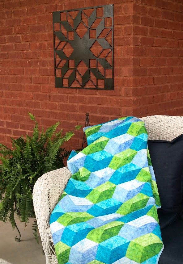 Pick Up Sticks quilt porch