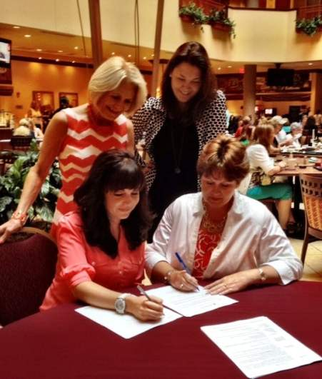 Ruth and me with our Zondervan editor Sandy and our agent Esther Fedorkevich