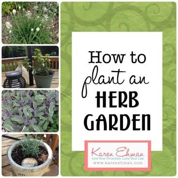 How to Plant an Herb Garden at KarenEhman.com
