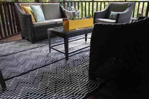 DIY Area Rug at KarenEhman.com