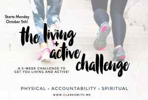 Check out the Living and Active Challenge from Clare Smith