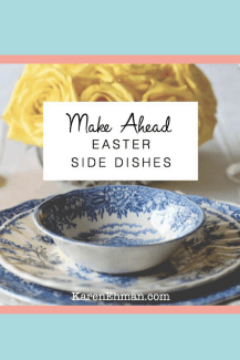 Make Ahead Easter Side Dishes including Grandma Shug's Mustard Sauce, Never-Fail Crescent Rolls, and Cornbread Pudding.