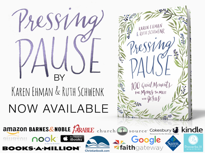 Moms! Pressing Pause: 100 Quiet Moments for Moms to Meet with Jesus now available!