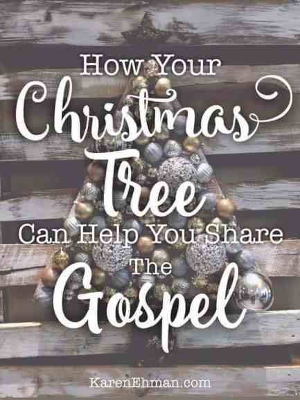 From the cradle to the cross: How your Christmas tree can help you share the gospel with your kids and others. From Karen Ehman on karenehman.com
