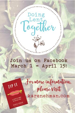 Join the Doing Lent Together challenge at karenehman.com.