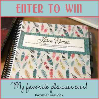 """Enter to win Karen Ehman's favorite """"Weekly Day Planner by itsjustemmy at Throne of Grace on Etsy."""
