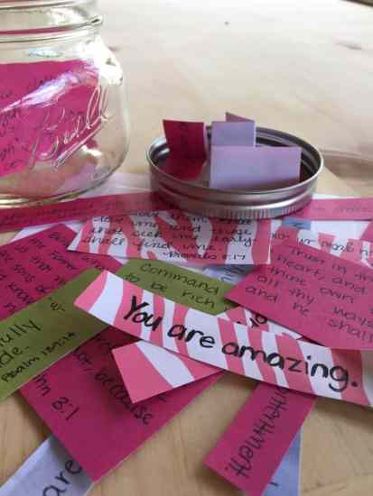 The Five-Minute Encouragement Jar by Amanda Wells for Love Your Life Friday at karenehman.com.