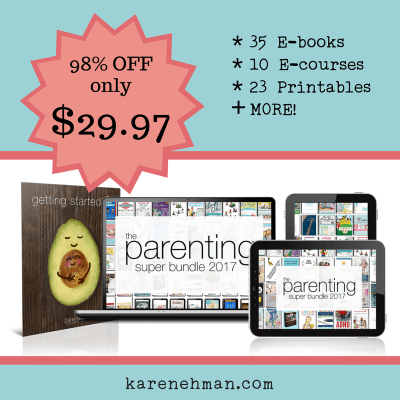Parenting Super Bundle with bonus by Karen Ehman at karenehman.com