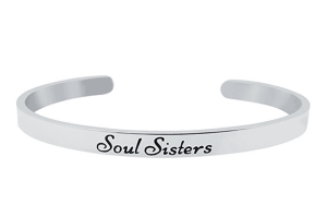 """""""SOUL SISTERS"""" Cuff Bracelet for Best Friends; 12 Fabulous Gifts for Friends at karenehman.com."""