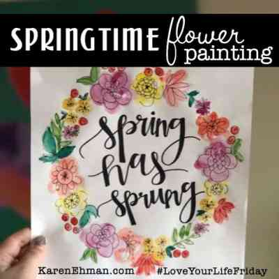 Springtime Flower Painting tutorial by Emma Heikkinen for #LoveYourLifeFriday at karenehman.com.