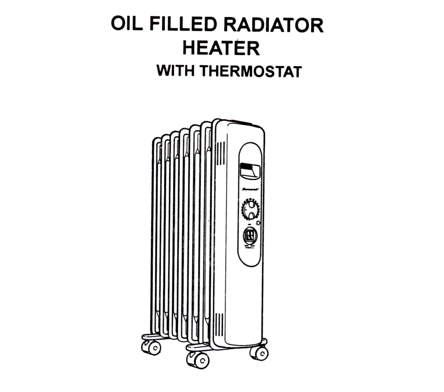 Duracraft Oil Filled Radiator Heater Model CZ-600 Owner's