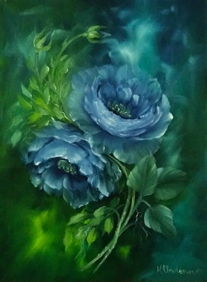 Romantic Blue Roses