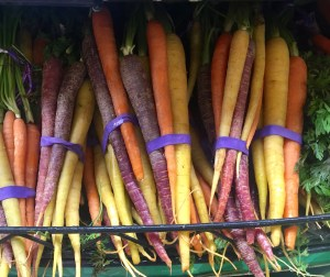 colorful carrots, carrots, Carrot and Cashew Soup, recipe