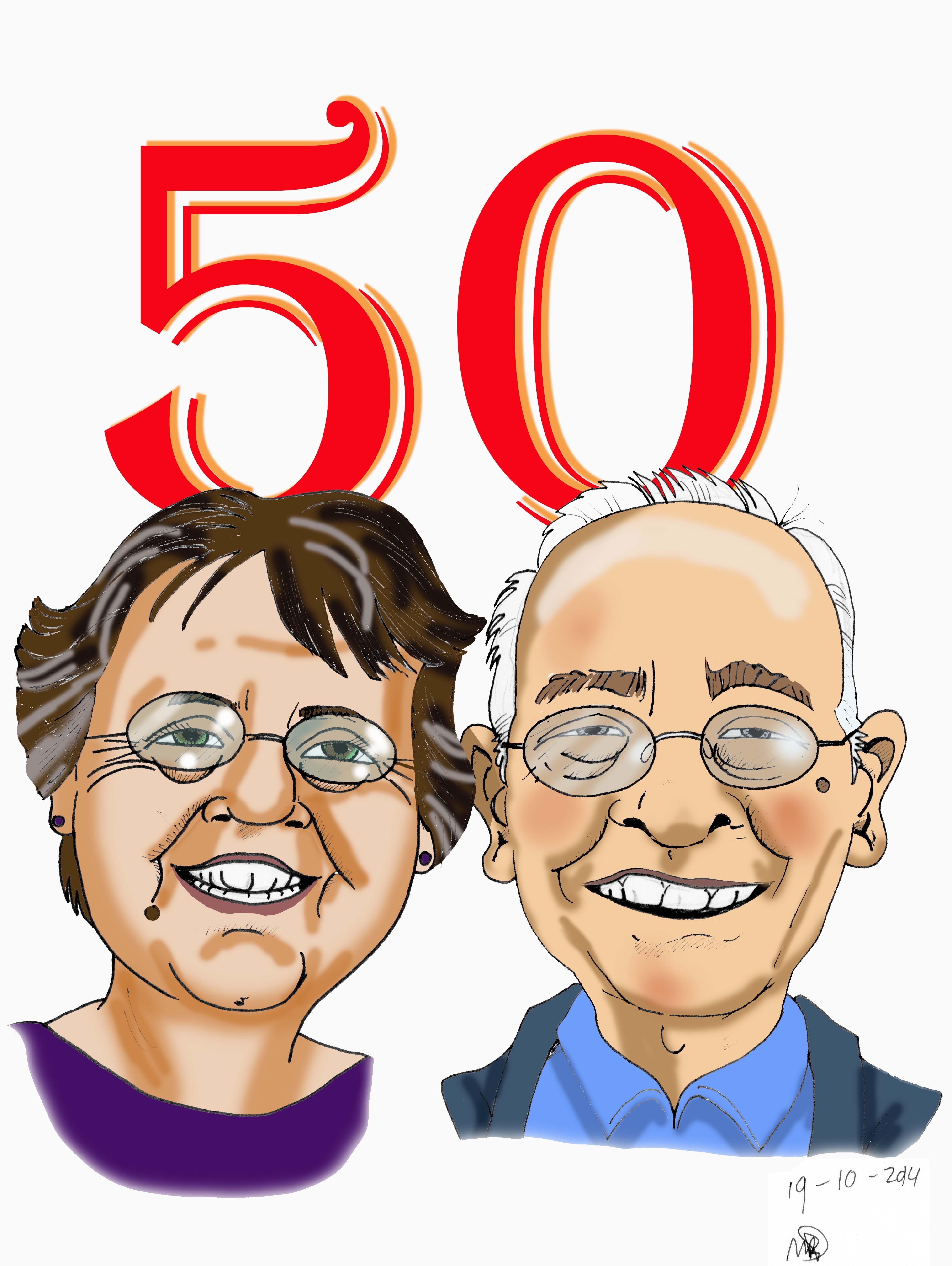 Douwe en Marjo IJlst (oom en tante) kleur Rickyfied