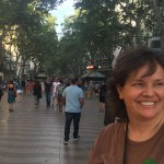 Kari Kilgore on las Ramblas in Barcelona, Spain. June 2016, Barcelona June 2016