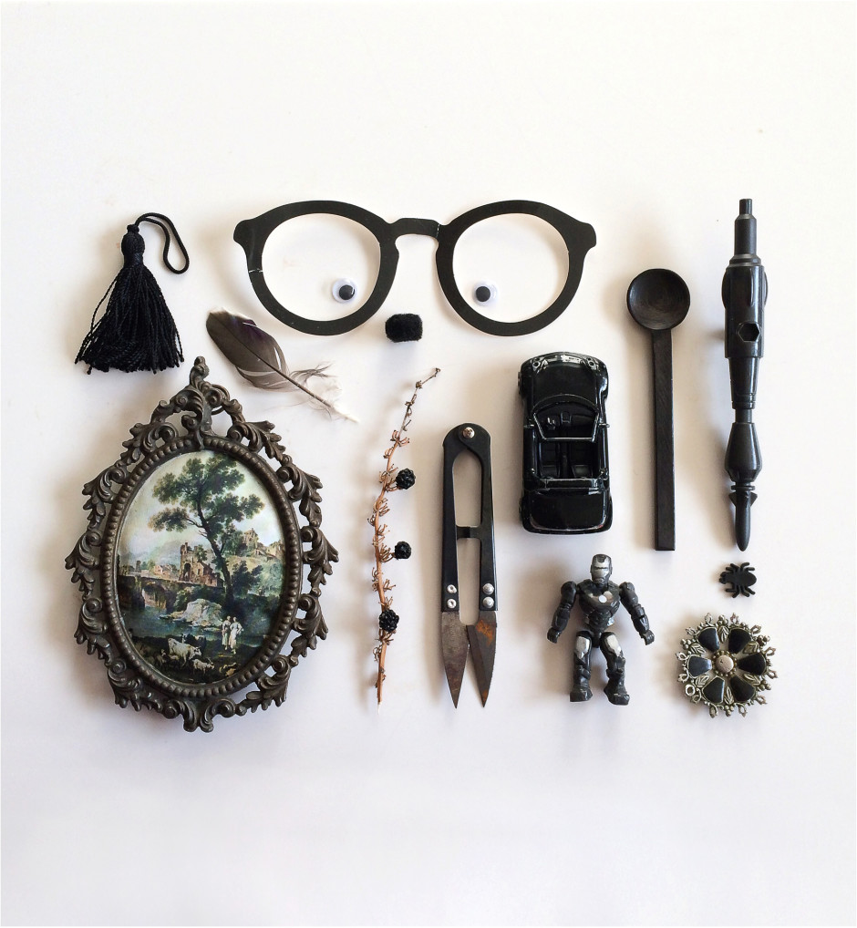 Real Life in Charcoal, things organized neatly Still Life Photography by Karina Sharpe