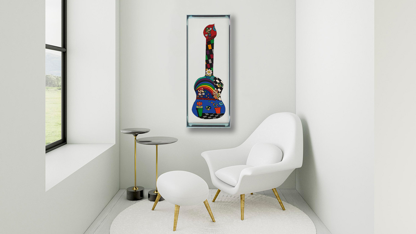Guitare Mario Kart - 150x60 - Disponible