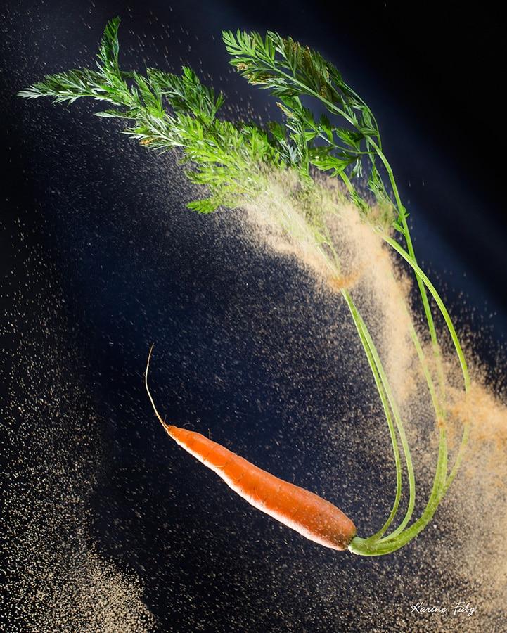 La carotte dans un vent de sable