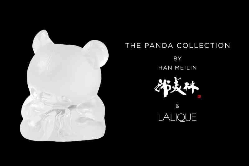 Panda cristal Lalique Art & Han Meilin