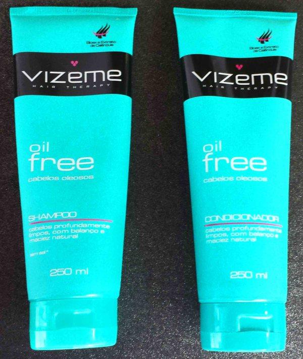 Shampoo e Condicionador Oil Free da Vizeme