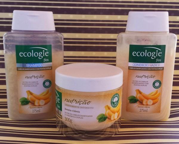 Kit tratamento intensivo Ecologie Nutrição Banana e Menta