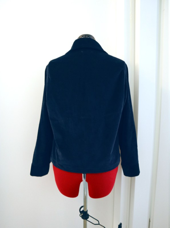 Blauw jasje corduroy