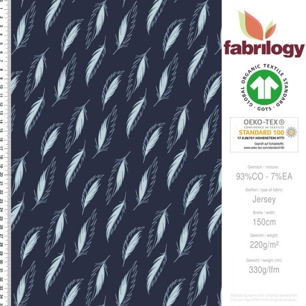 Fabrilogy navy feathers