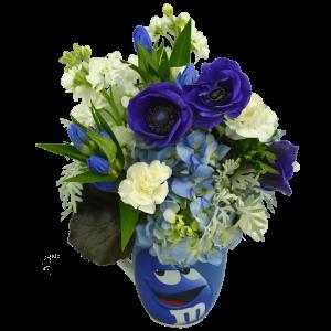 Blue m&m Flower Mug