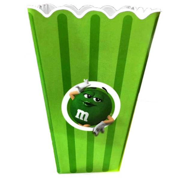 m&m Poppin with Green Bouquet