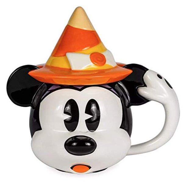 Minnie Mouse Halloween Ceramic Mug with Lid