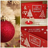 12 Frohe Weihnachten rot weiß collage