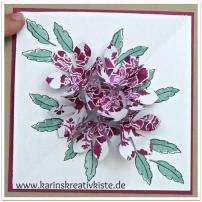 Pralinen-Verpackung mit Flower Pop-Up Detail 2
