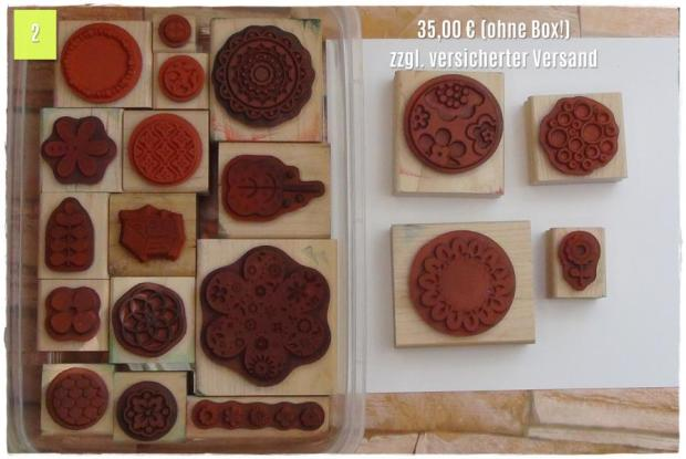 Blumen Ornamente Kreise Vogelhäuschen, auf Holz montiert, ohne Box! (35,00 Euro zzgl. Versand)